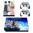 Sword Art Online Hollow Fragment decal skin sticker for Xbox One X console and controllers