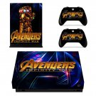 Avengers infinity war decal skin sticker for Xbox One X console and controllers