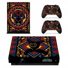 Black Panther decal skin sticker for Xbox One X console and controllers