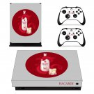 Bacardi Dragon Berry decal skin sticker for Xbox One X console and controllers