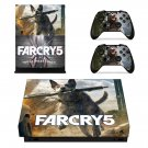Far Cry 5 decal skin sticker for Xbox One X console and controllers