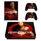 God of War 4 decal skin sticker for Xbox One X console and controllers