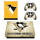Pittsburgh Penguins decal skin sticker for Xbox One X console and controllers
