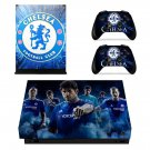 Chelsea FC decal skin sticker for Xbox One X console and controllers