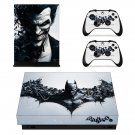 Batman Arkham Origins decal skin sticker for Xbox One X console and controllers