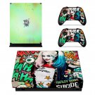 Harley Quinn decal skin sticker for Xbox One X console and controllers