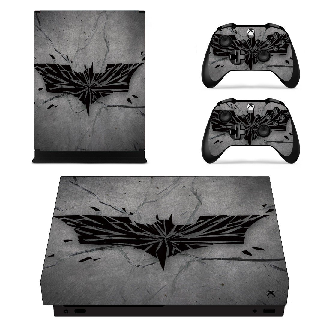 Batman decal skin sticker for Xbox One X console and controllers