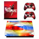 2018 FIFA World Cup decal skin sticker for Xbox One X console and controllers
