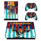 FC Barcelona Messi decal skin sticker for Xbox One X console and controllers