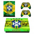 Brazilian Football Confederation decal skin sticker for Xbox One X console and controllers
