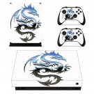 Cafepress dragon triabal decal skin sticker for Xbox One X console and controllers