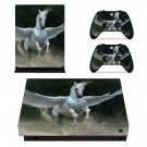 Pegasus horse  decal skin sticker for Xbox One X console and controllers