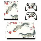 Chinese Culture Animals decal skin sticker for Xbox One X console and controllers