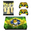 Neymar decal skin sticker for Xbox One X console and controllers