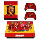 Spain National FT decal skin sticker for Xbox One X console and controllers