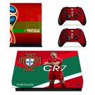 2018 FIFA World Cup Cristiano Ronaldo decal skin sticker for Xbox One X console and controllers