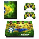 CBF Neymar decal skin sticker for Xbox One X console and controllers