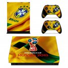 2018 FIFA World Cup CBF decal skin sticker for Xbox One X console and controllers