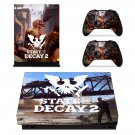 State of Decay 2 decal skin sticker for Xbox One X console and controllers