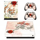 Okami Celestia decal skin sticker for Xbox One X console and controllers