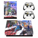Fate Extella decal skin sticker for Xbox One X console and controllers