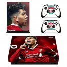 Roberto Firmino decal skin sticker for Xbox One X console and controllers