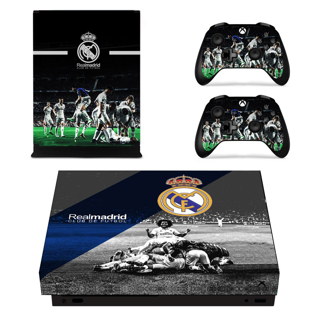 Real Madrid Decal Skin Sticker For Xbox One X Console And