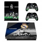 Real Madrid decal skin sticker for Xbox One X console and controllers