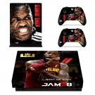 Lebron James decal skin sticker for Xbox One X console and controllers