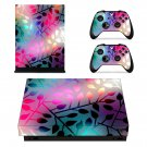 Abstract wallpaper decal skin sticker for Xbox One X console and controllers