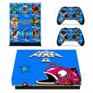 Mega Man 2 decal skin sticker for Xbox One X console and controllers