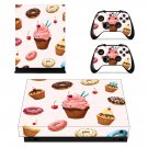 Fast food decal skin sticker for Xbox One X console and controllers