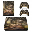 Dark Hedges decal skin sticker for Xbox One X console and controllers
