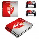 Red Star Belgrade decal skin sticker for PS4 Pro console and controllers