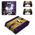 Minnesota Vikings decal skin sticker for PS4 Pro console and controllers