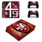 San Francisco 49ers decal skin sticker for PS4 Pro console and controllers