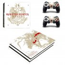 Monster Hunter World decal skin sticker for PS4 Pro console and controllers