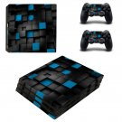 Black 3D decal skin sticker for PS4 Pro console and controllers
