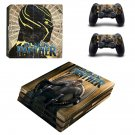 Black Panther decal skin sticker for PS4 Pro console and controllers