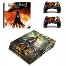 Attack on Titan 2 decal skin sticker for PS4 Pro console and controllers