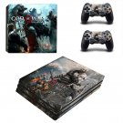God of War 4 decal skin sticker for PS4 Pro console and controllers
