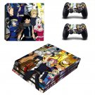 Fairy Tail decal skin sticker for PS4 Pro console and controllers