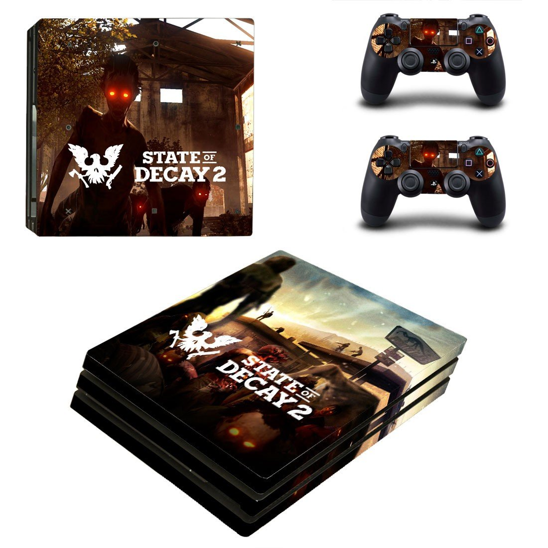 State of the Decay 2 decal skin sticker for PS4 Pro console and controllers