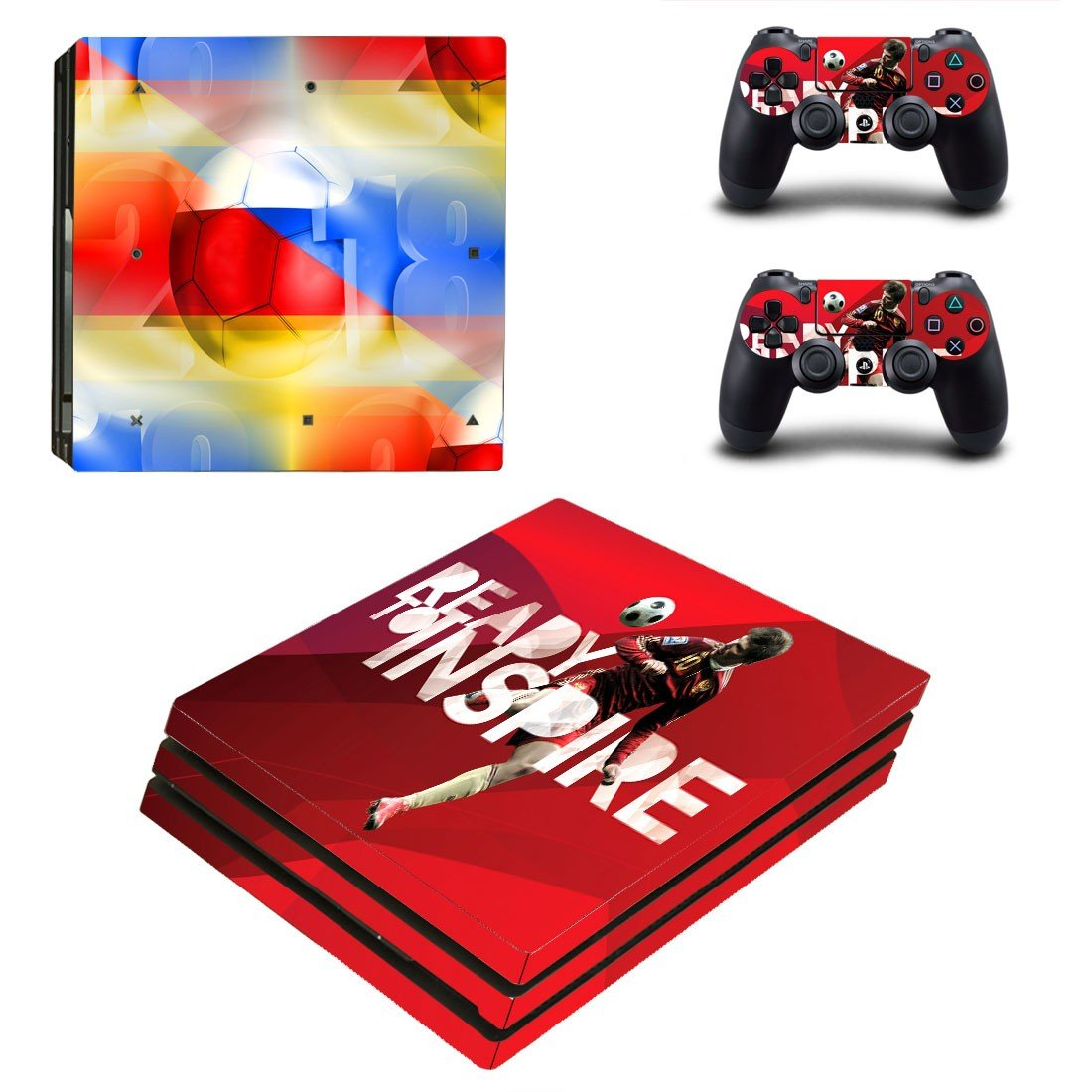 2018 FIFA World Cup decal skin sticker for PS4 Pro console and controllers