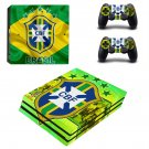 Brazilian Football Confederation decal skin sticker for PS4 Pro console and controllers