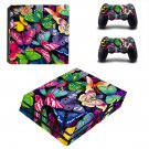 Butterflies wallpaper decal skin sticker for PS4 Pro console and controllers