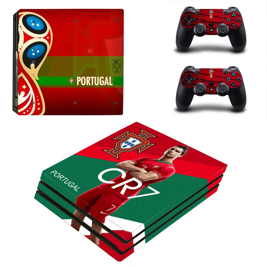 2018 FIFA World Cup Portugal decal skin sticker for PS4 Pro console and controllers