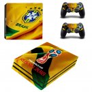 2018 FIFA World Cup Brazil decal skin sticker for PS4 Pro console and controllers