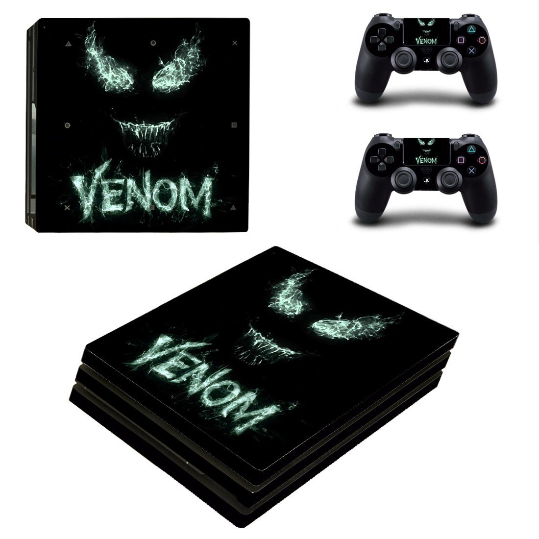 Venom decal skin sticker for PS4 Pro console and controllers