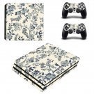 Floral Wallpaper decal skin sticker for PS4 Pro console and controllers